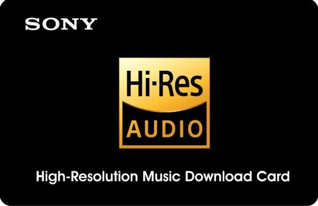 Sony Hi-Res Audio download card