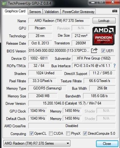 XFX AMD Radeon R7 370