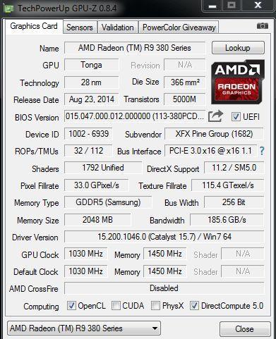 XFX AMD Radeon R9 380