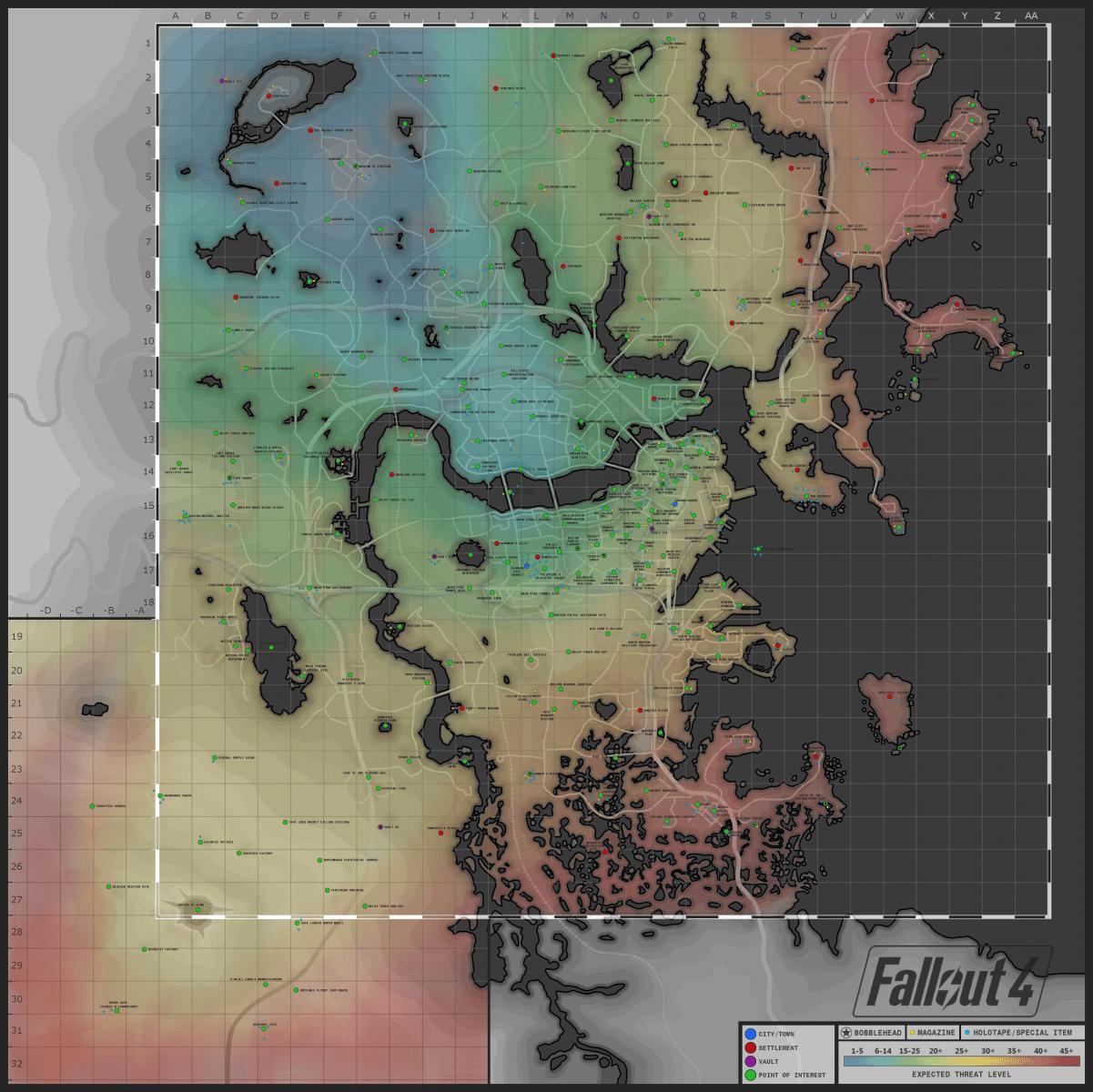Fallout 4 Map
