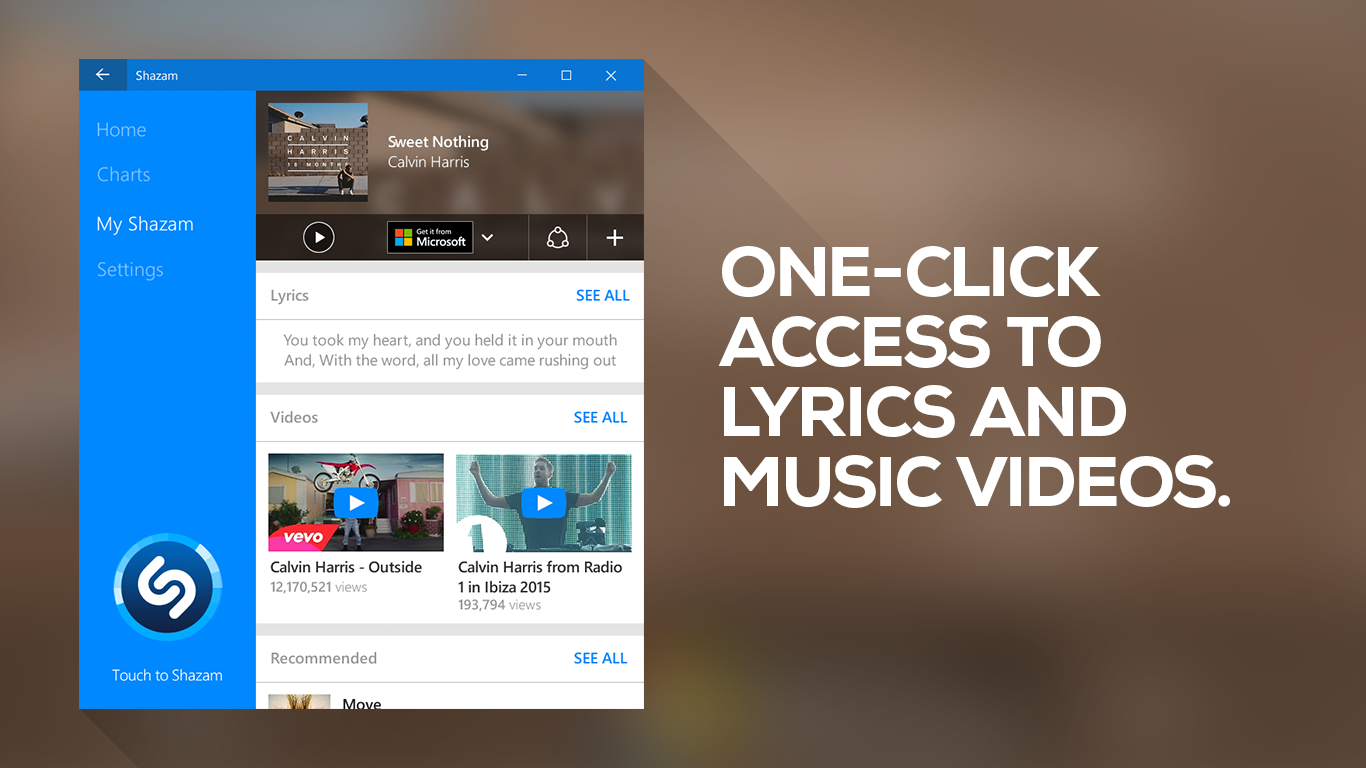 Shazam-for-Windows-10-Song-Page