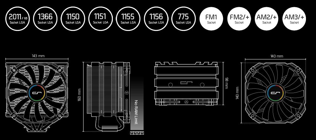 Спецификации Cryorig H5 Universal