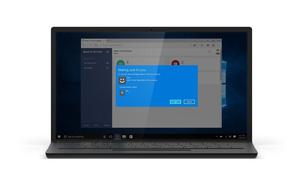 Windows 10 Anniversary biometry