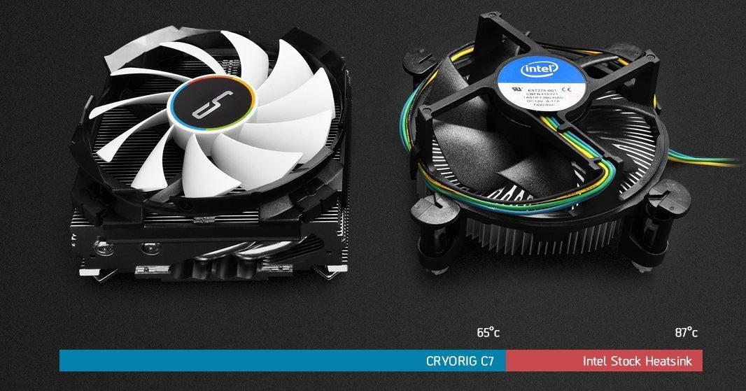 Cryorig C7 vs Intel box