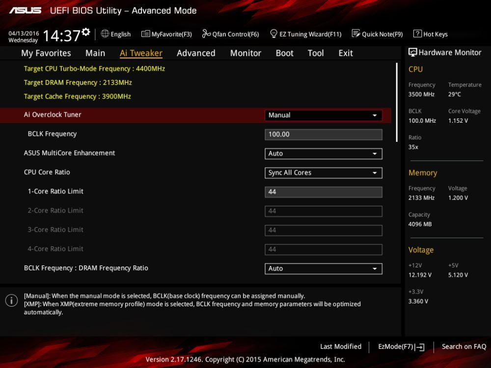 ASUS Z170I Pro Gaming uefi