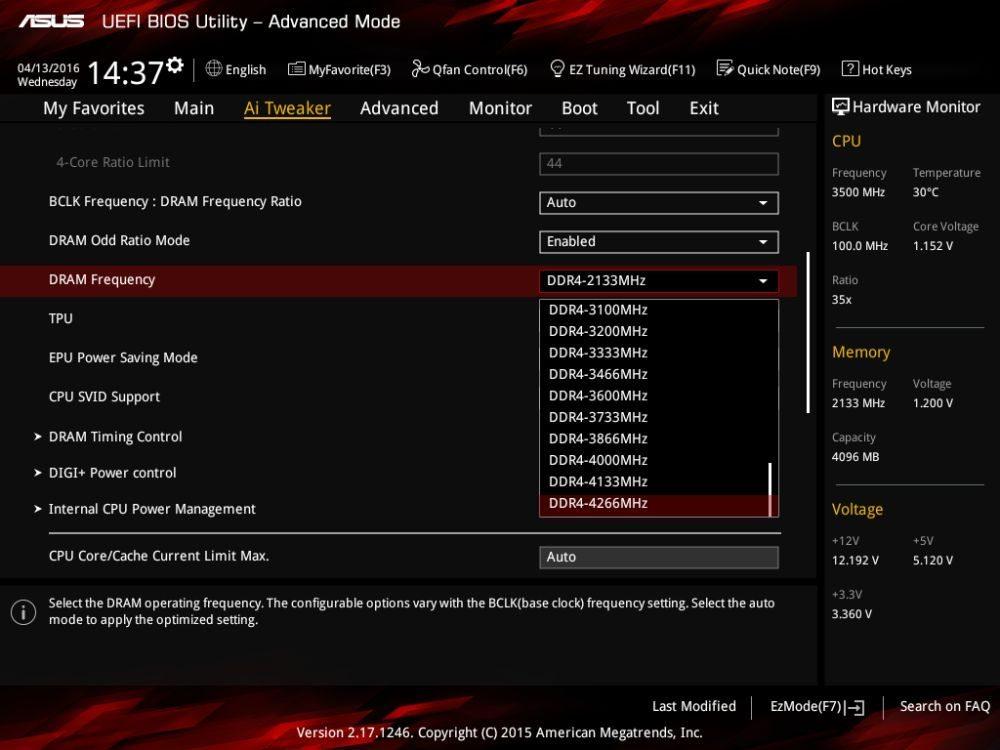 ASUS Z170I Pro Gaming memory