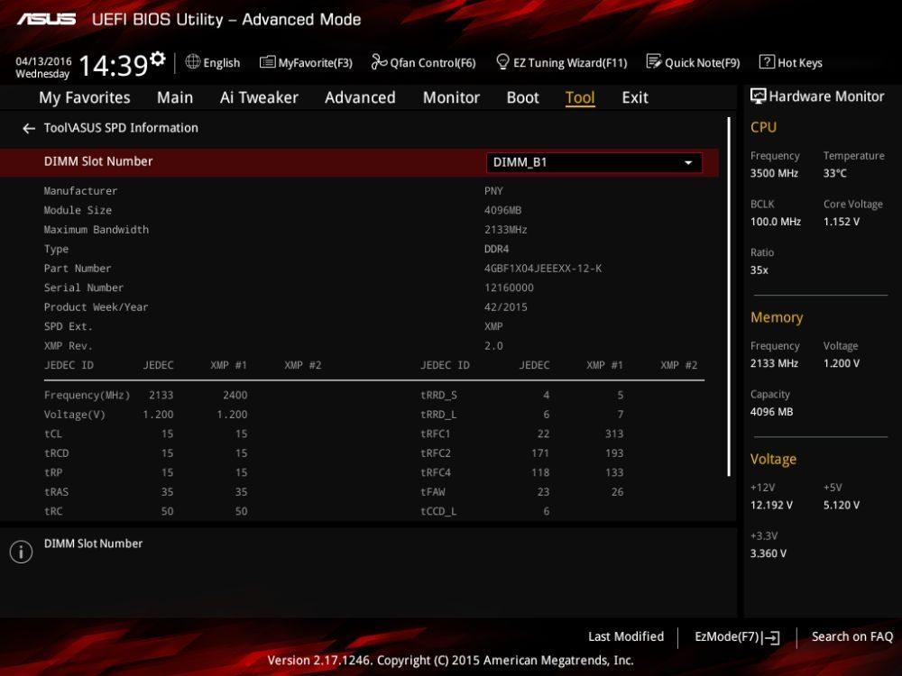 ASUS Z170I Pro Gaming spd