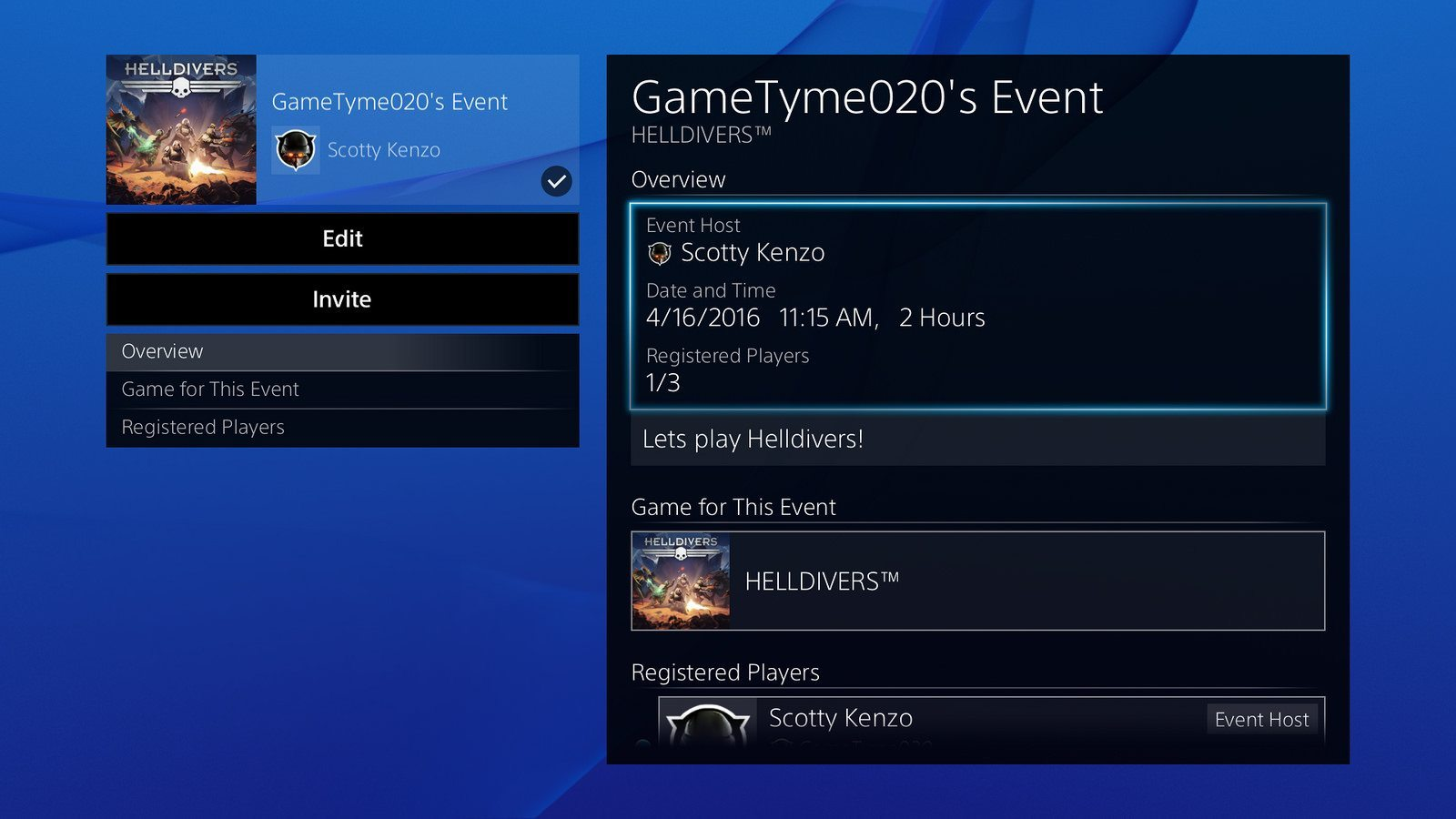 PlayStation 3.50 events
