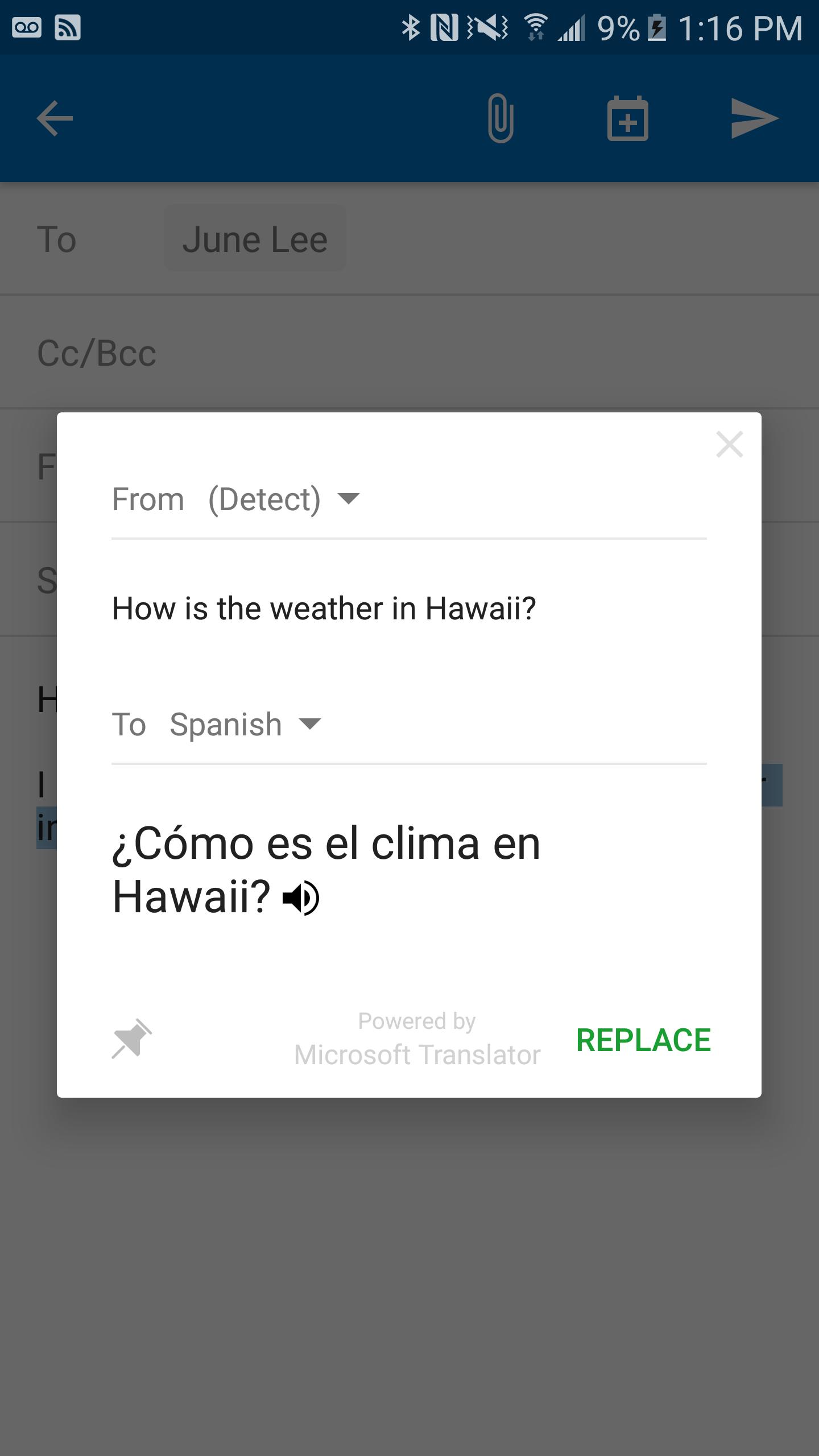 Microsoft Translator для Android