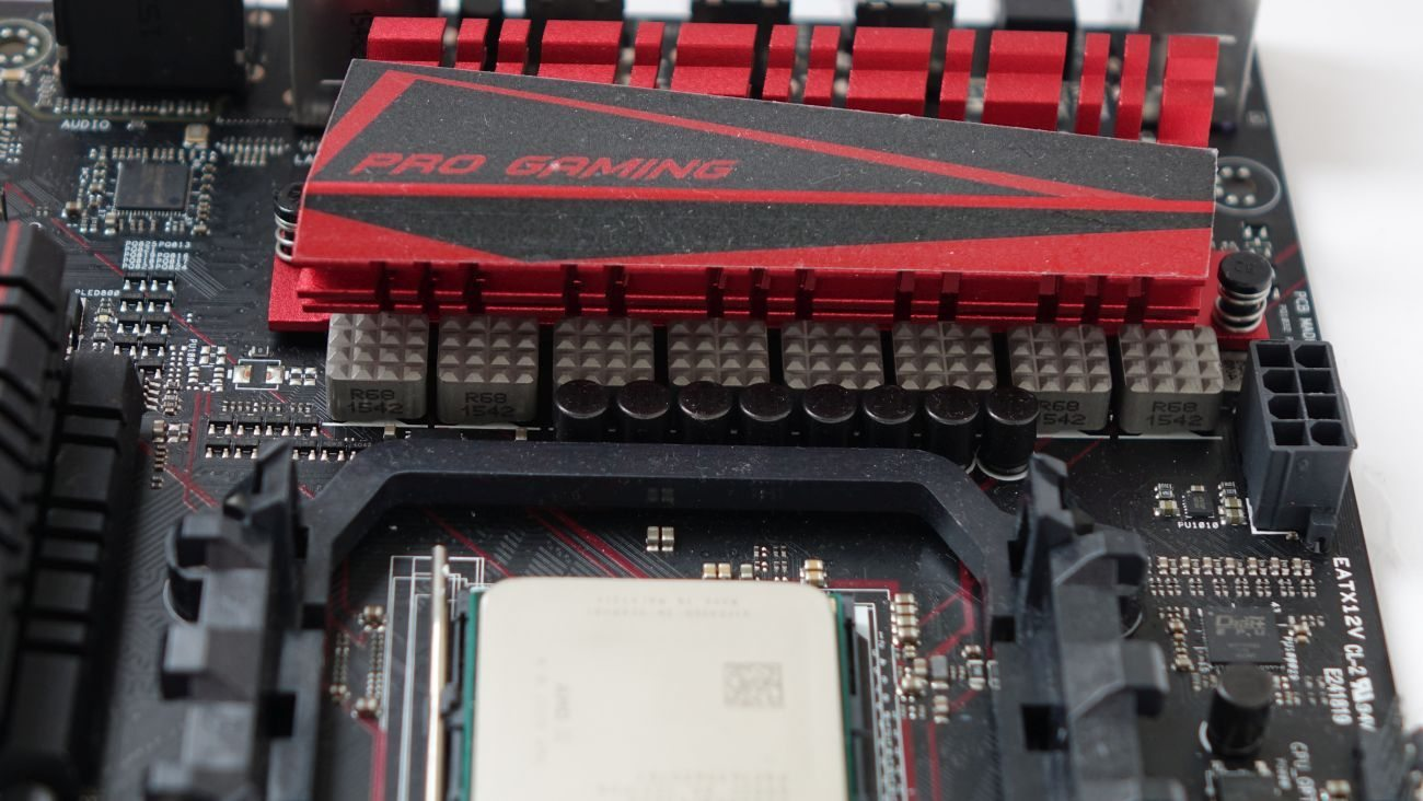ASUS 970 PRO Gaming/Aura силовые элементы