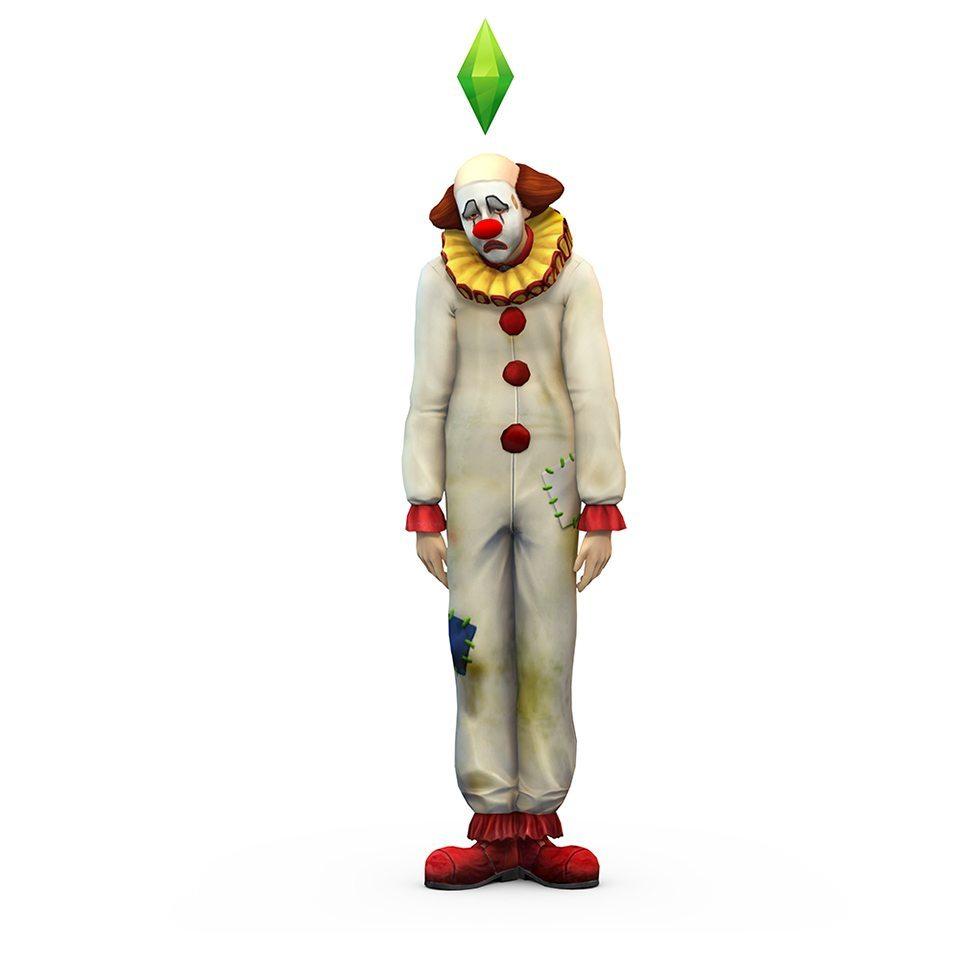 Печальный клоун в The Sims 4