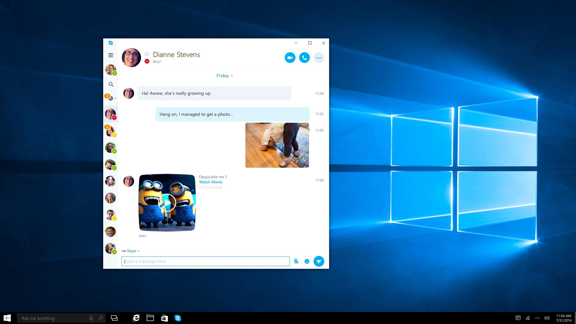 Skype UWP new