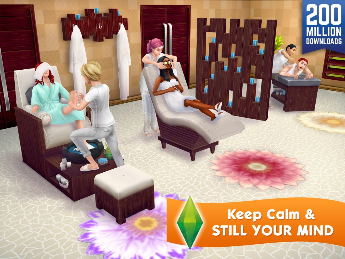The Sims spa complex
