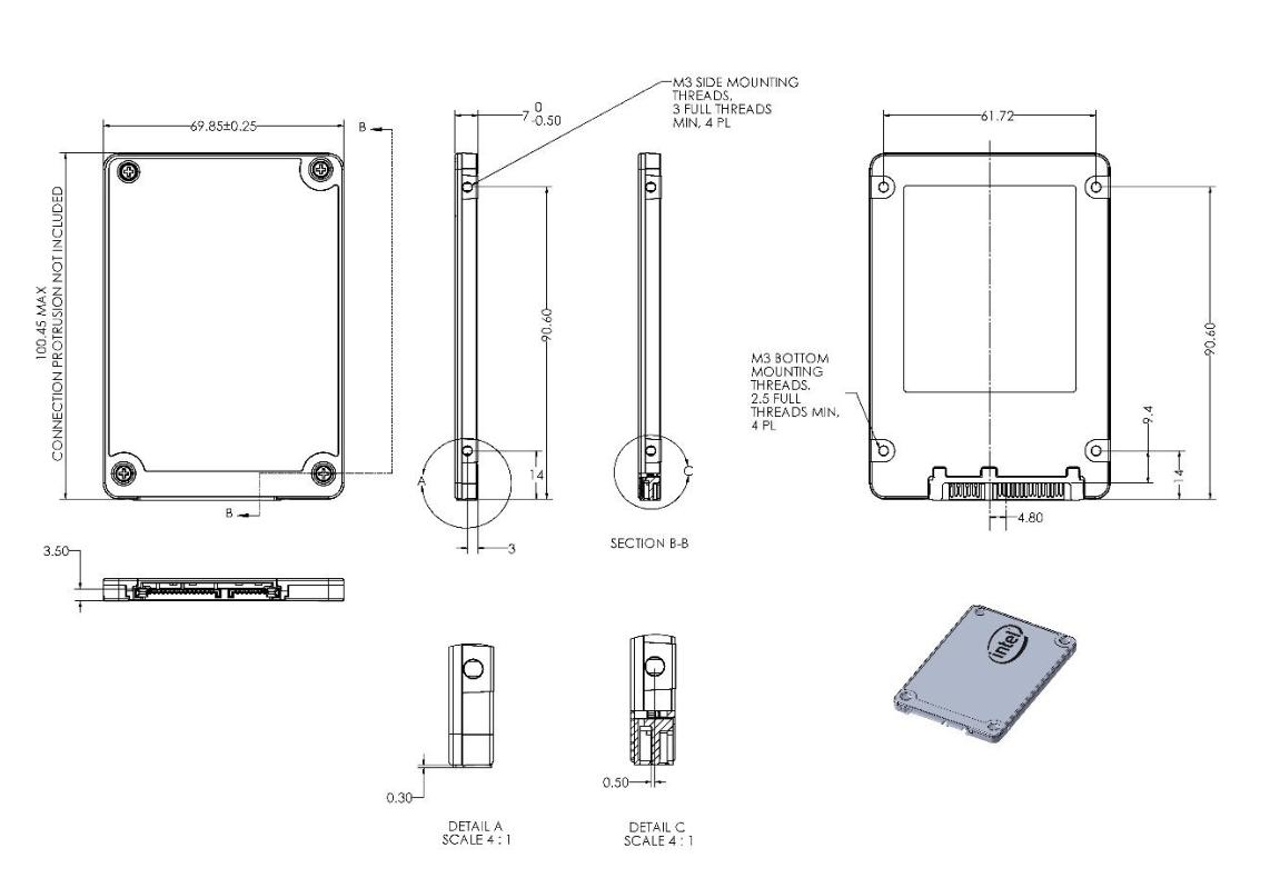 Intel SSD 540S схема