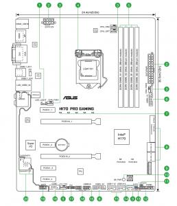 ASUS H170 Pro Gaming scheme