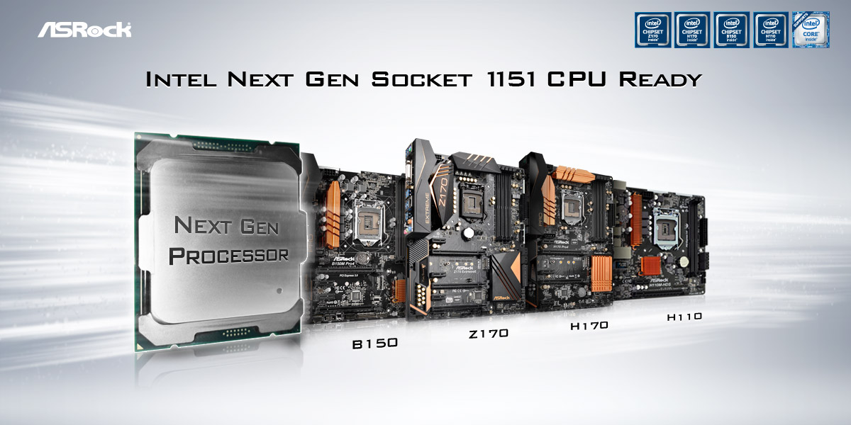 ASRock Motherboards are Ready to Support Intel's Next-Gen-Socket-1151-CPUs