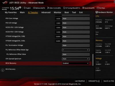 ASUS ROG Strix X99 Gaming bios