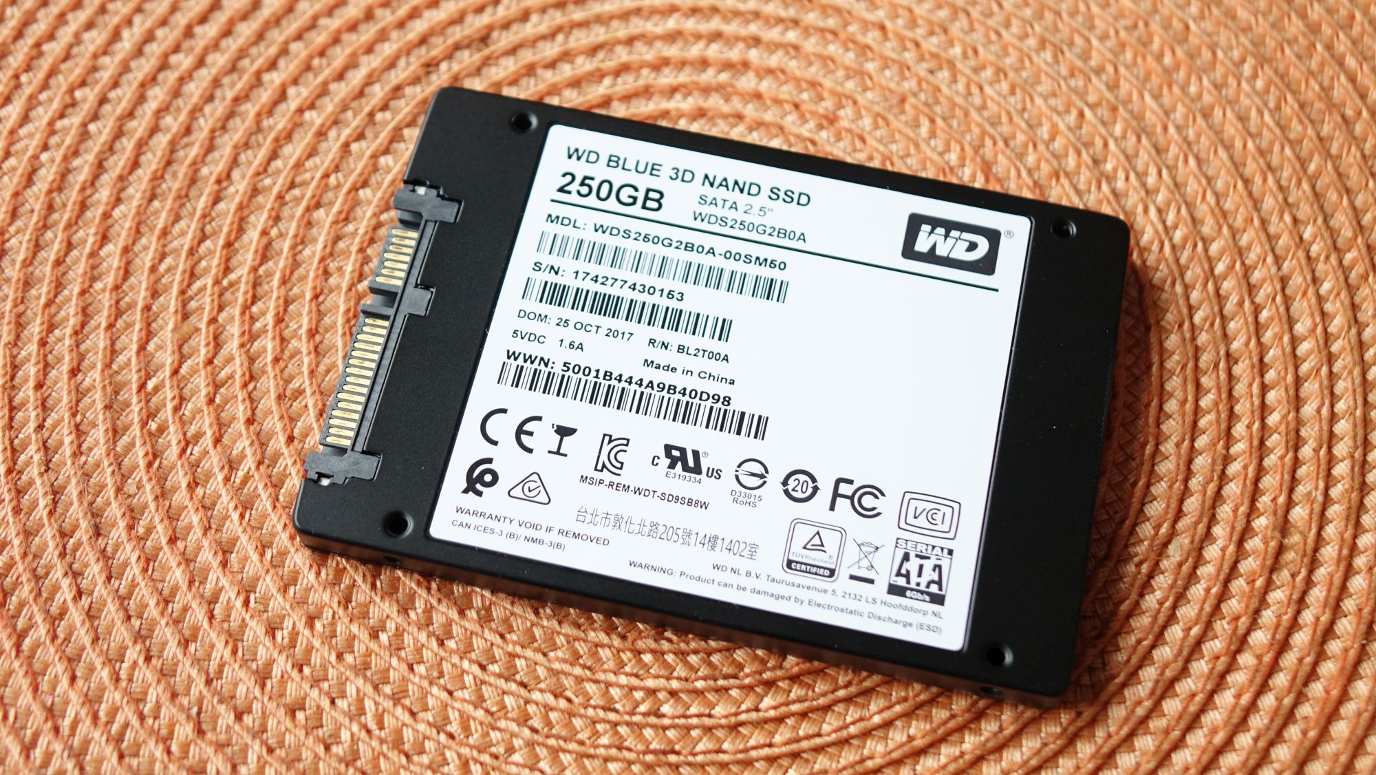 WD Blue 3D NAND SATA SSD маркировка