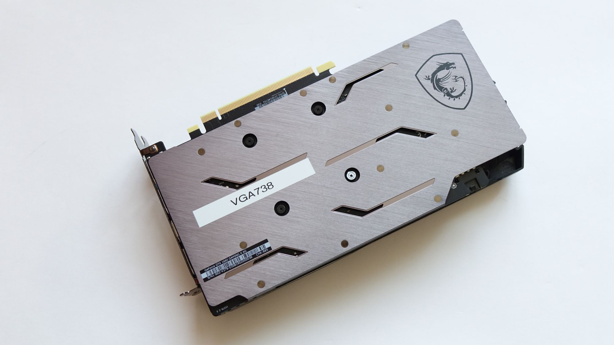 MSI GeForce GTX 1660 Gaming X 6G сзади