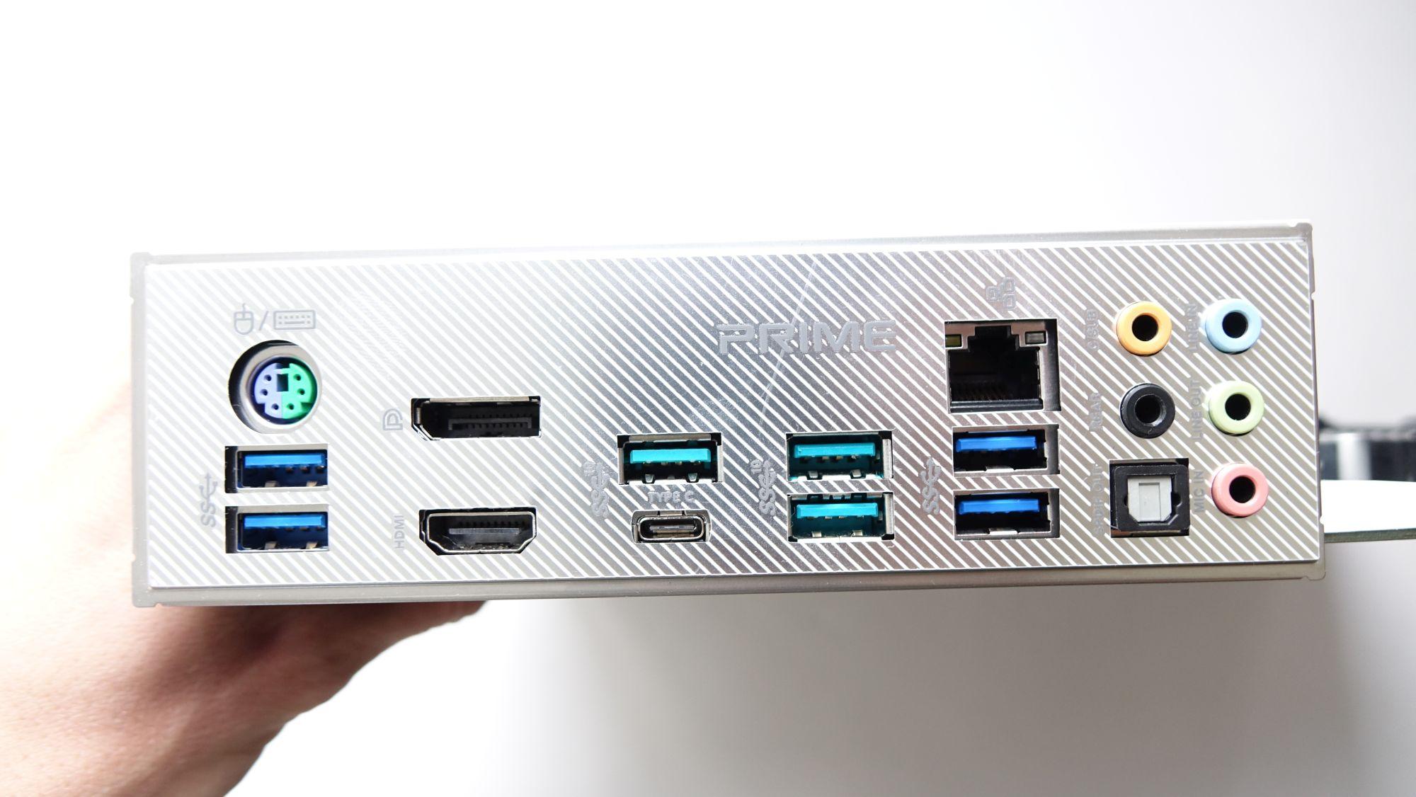 ASUS Prime X570-Pro задняя панель
