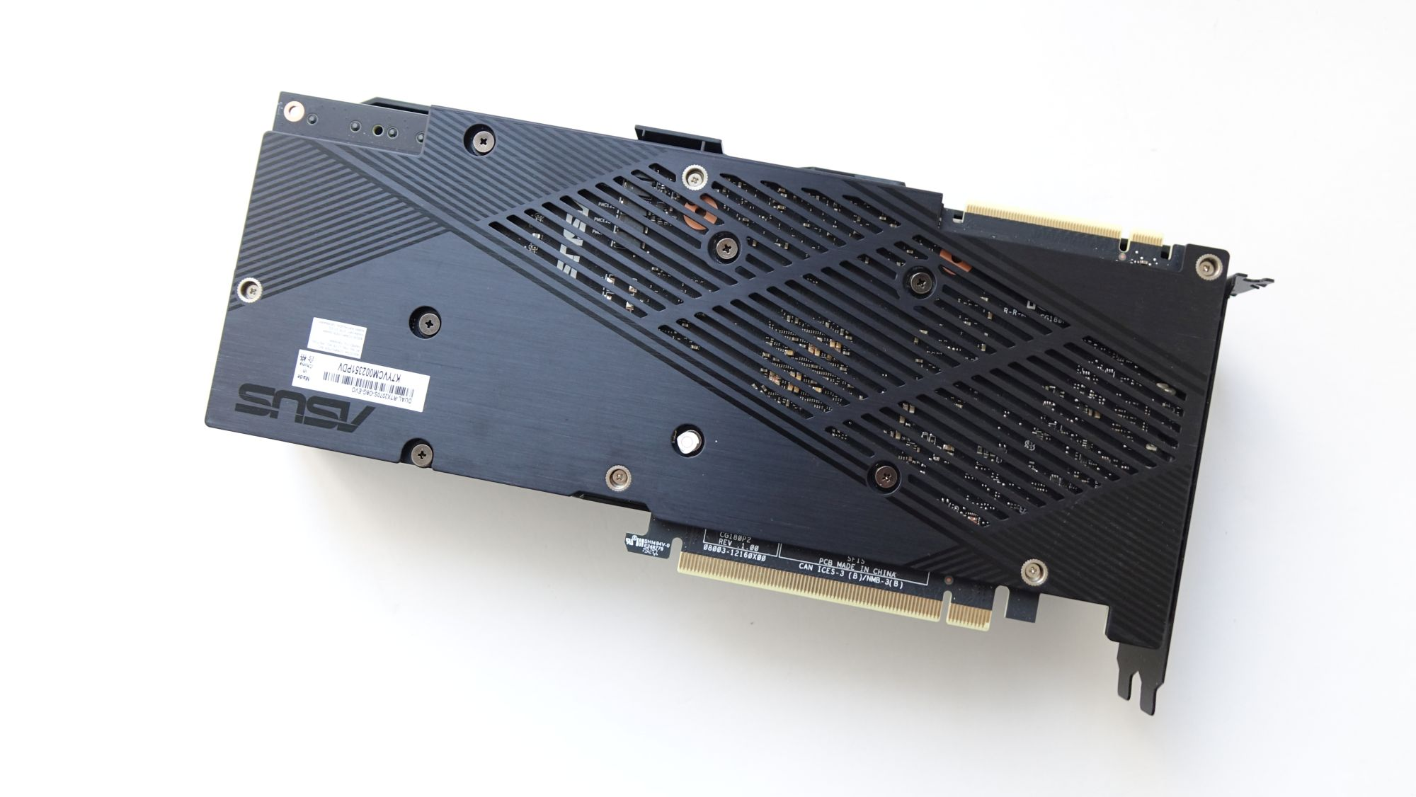 ASUS Dual GeForce RTX 2070 Super Evo сзади