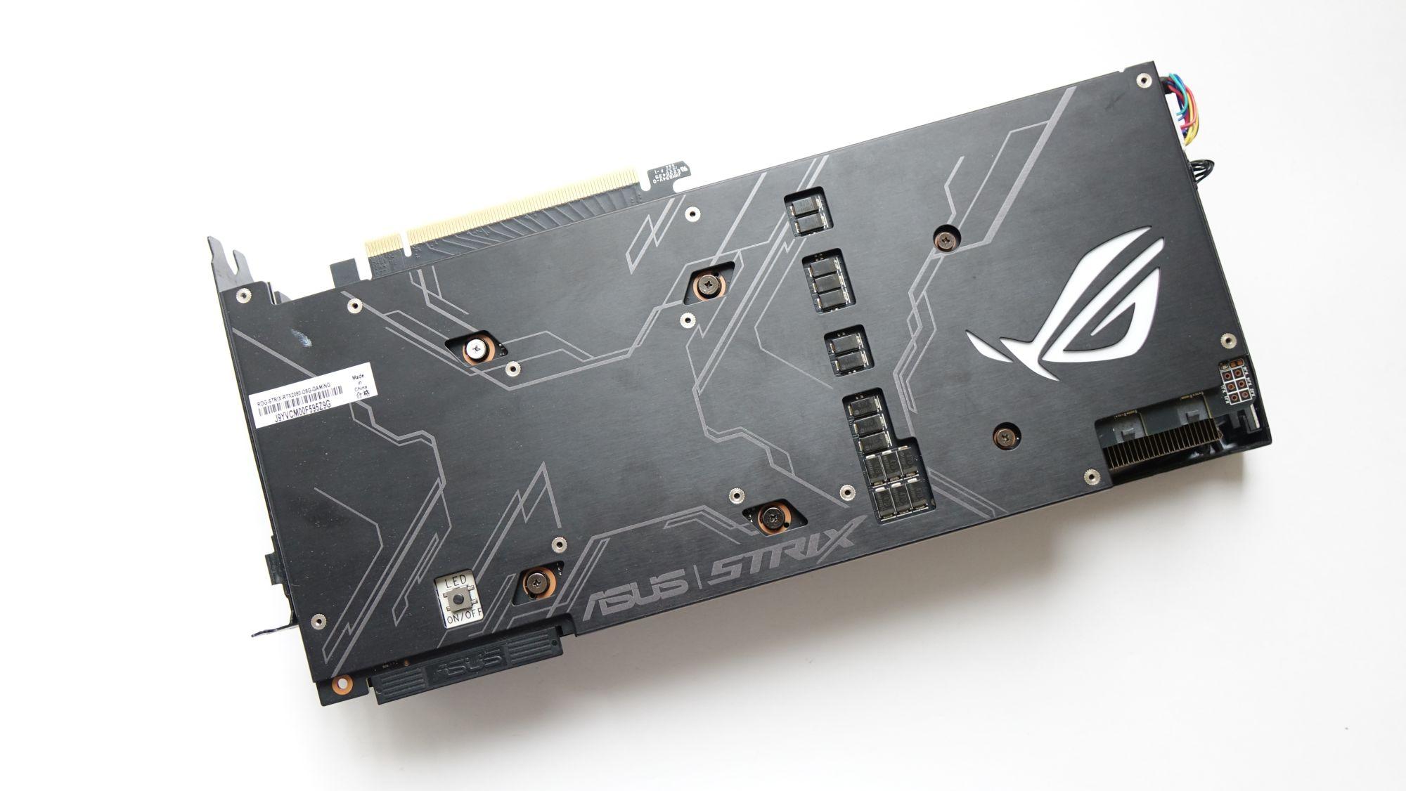 ASUS ROG Strix GeForce RTX 2080 бэкплейт