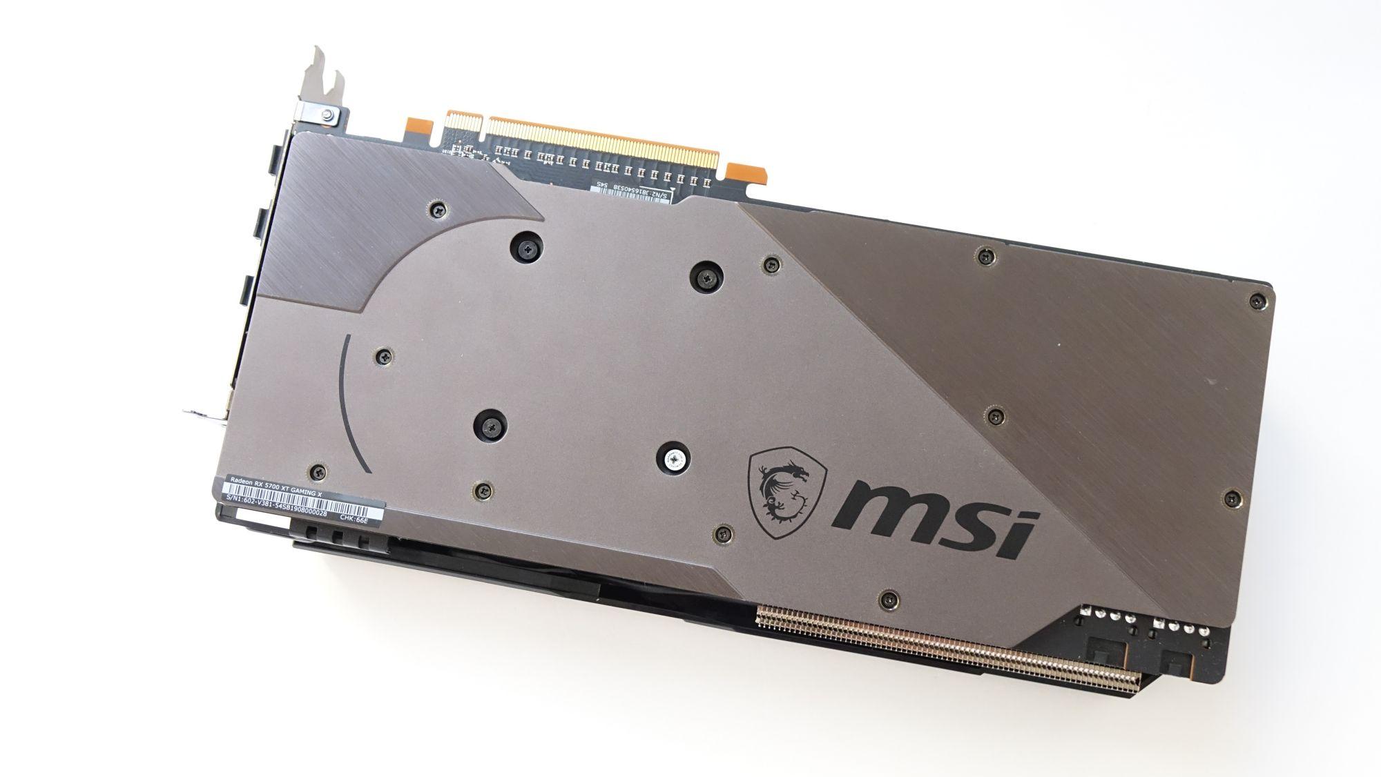 MSI Radeon RX 5700 XT Gaming X бэкплейт