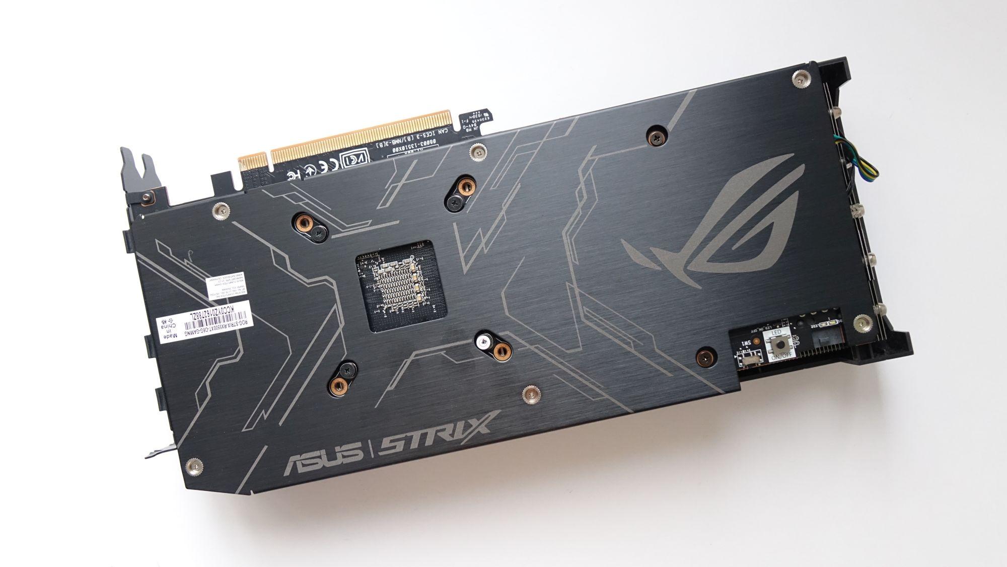 ASUS ROG Strix Radeon RX 5500 XT бэкплейт