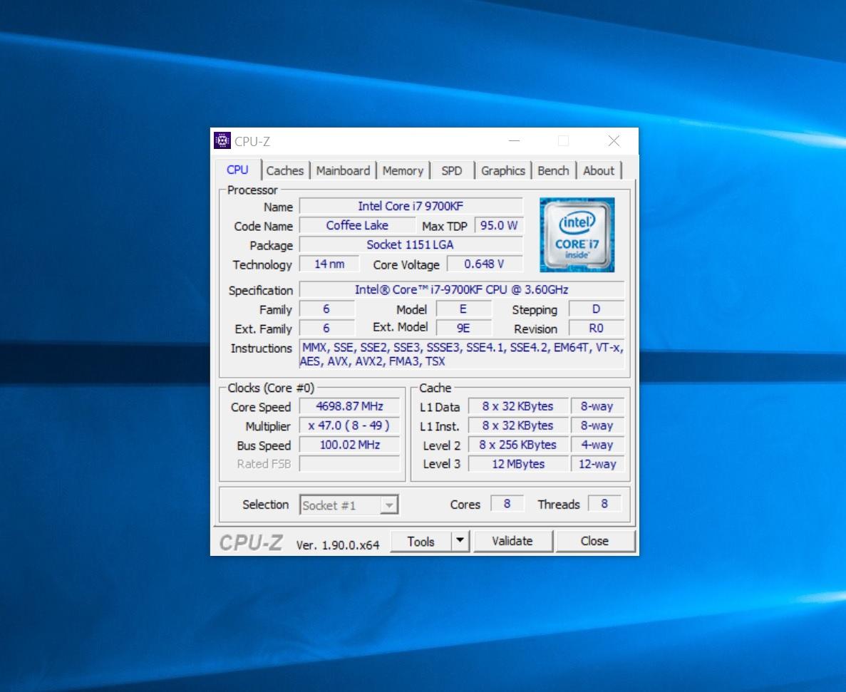 gpu-z 9700kf