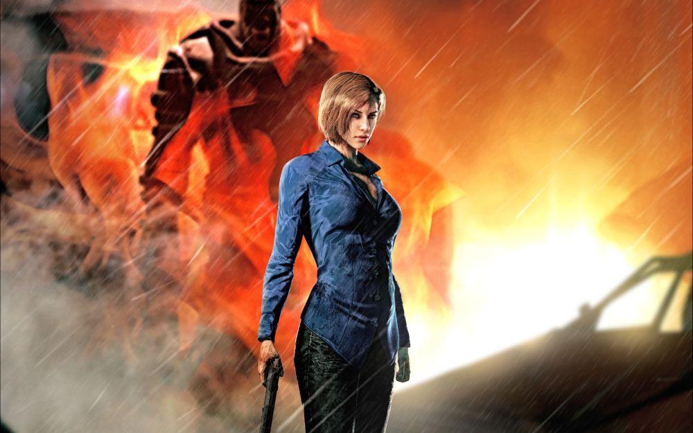 Resident-Evil-3-Nemesis-girl-gun-rain_1920x1200