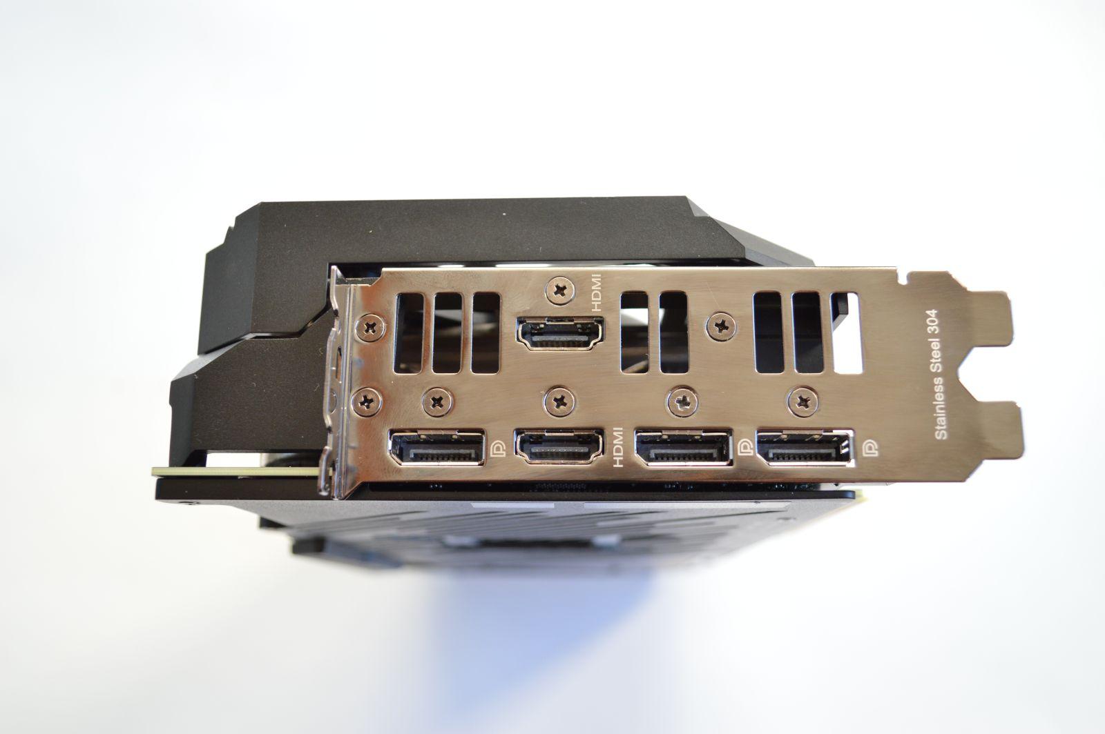 ASUS ROG Strix GeForce RTX 3070 интерфейсы