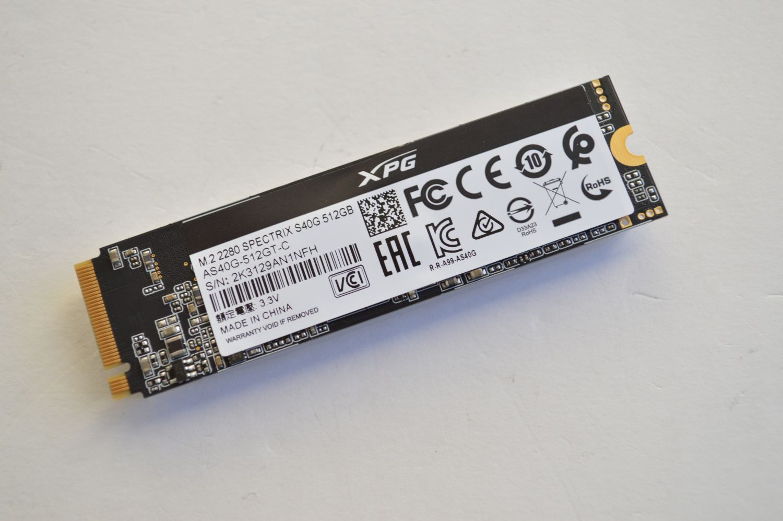 XPG Spectrix S40G RGB наклейка