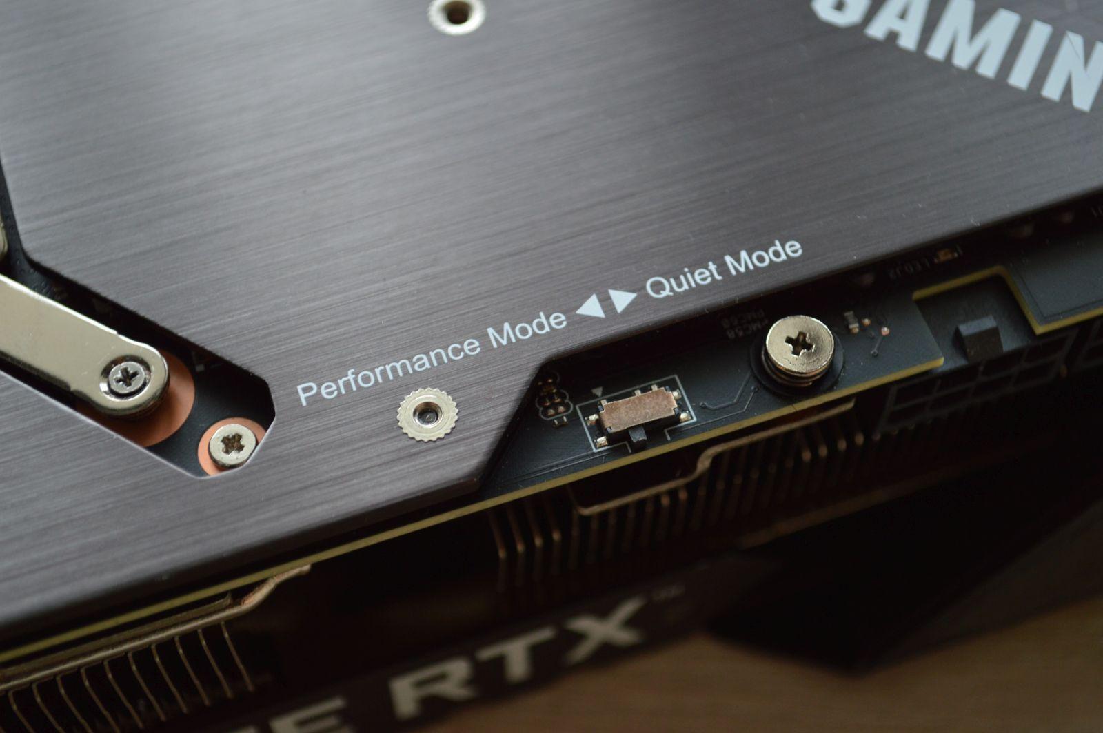 TUF Gaming GeForce RTX 3080 переключатель