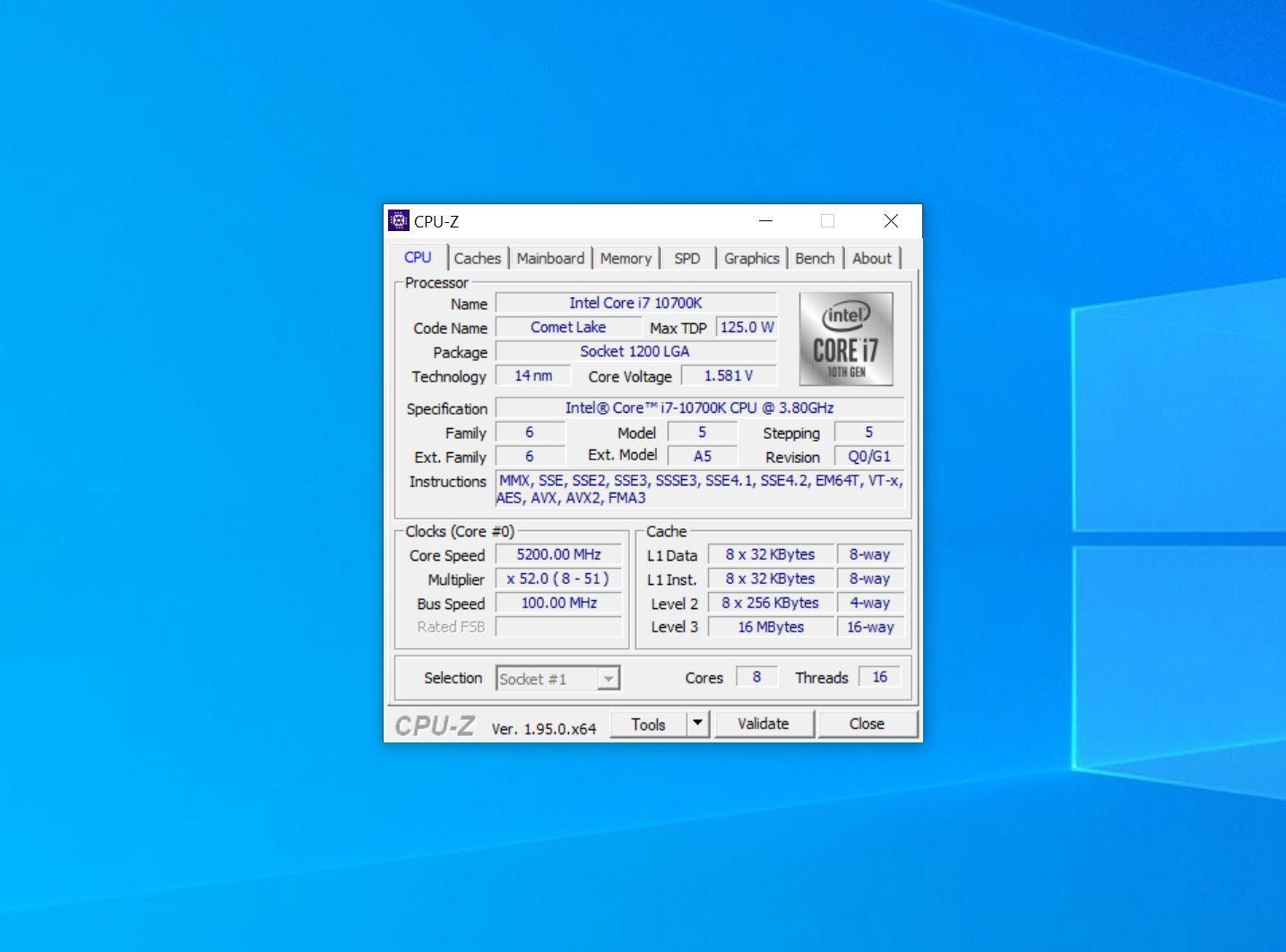 10700k 5200 Mhz