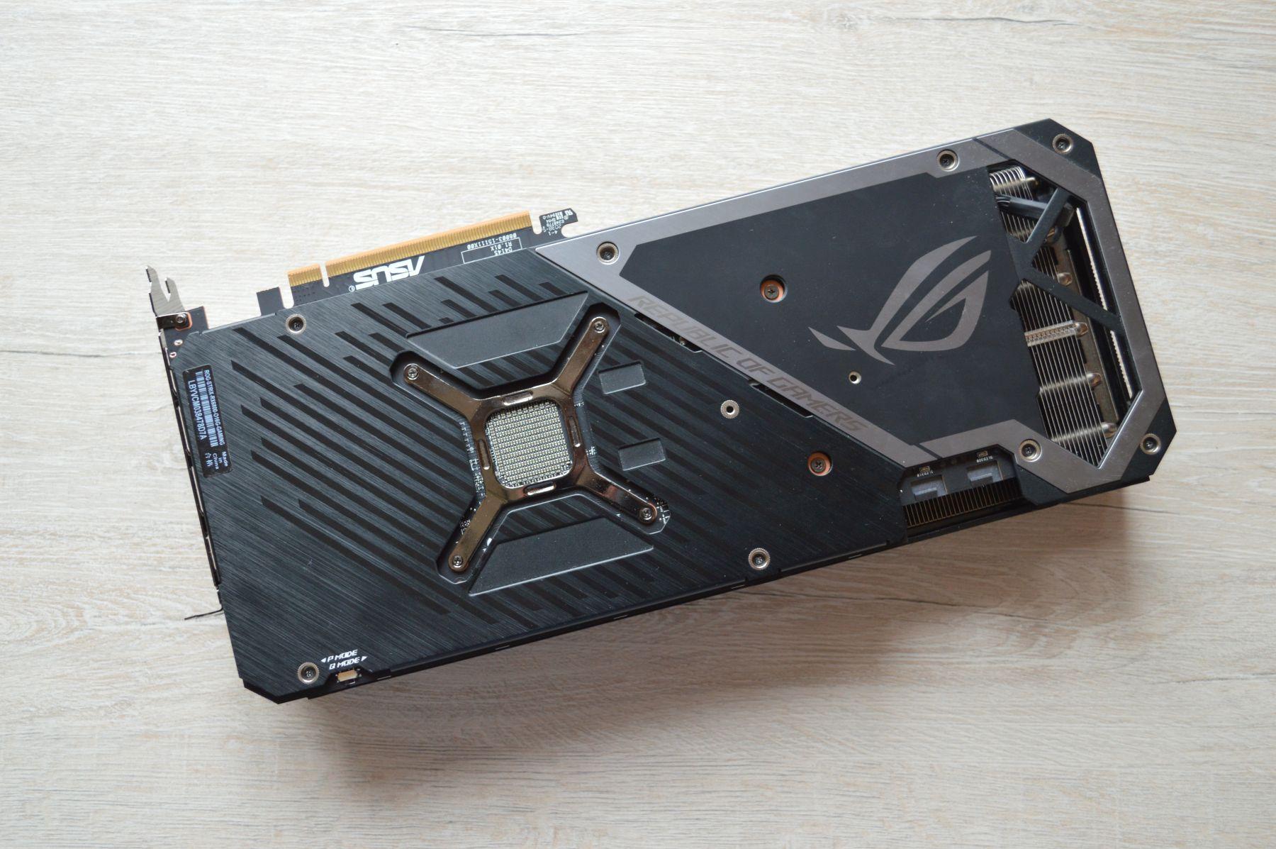 ROG Strix Radeon RX 6800 бэкплейт