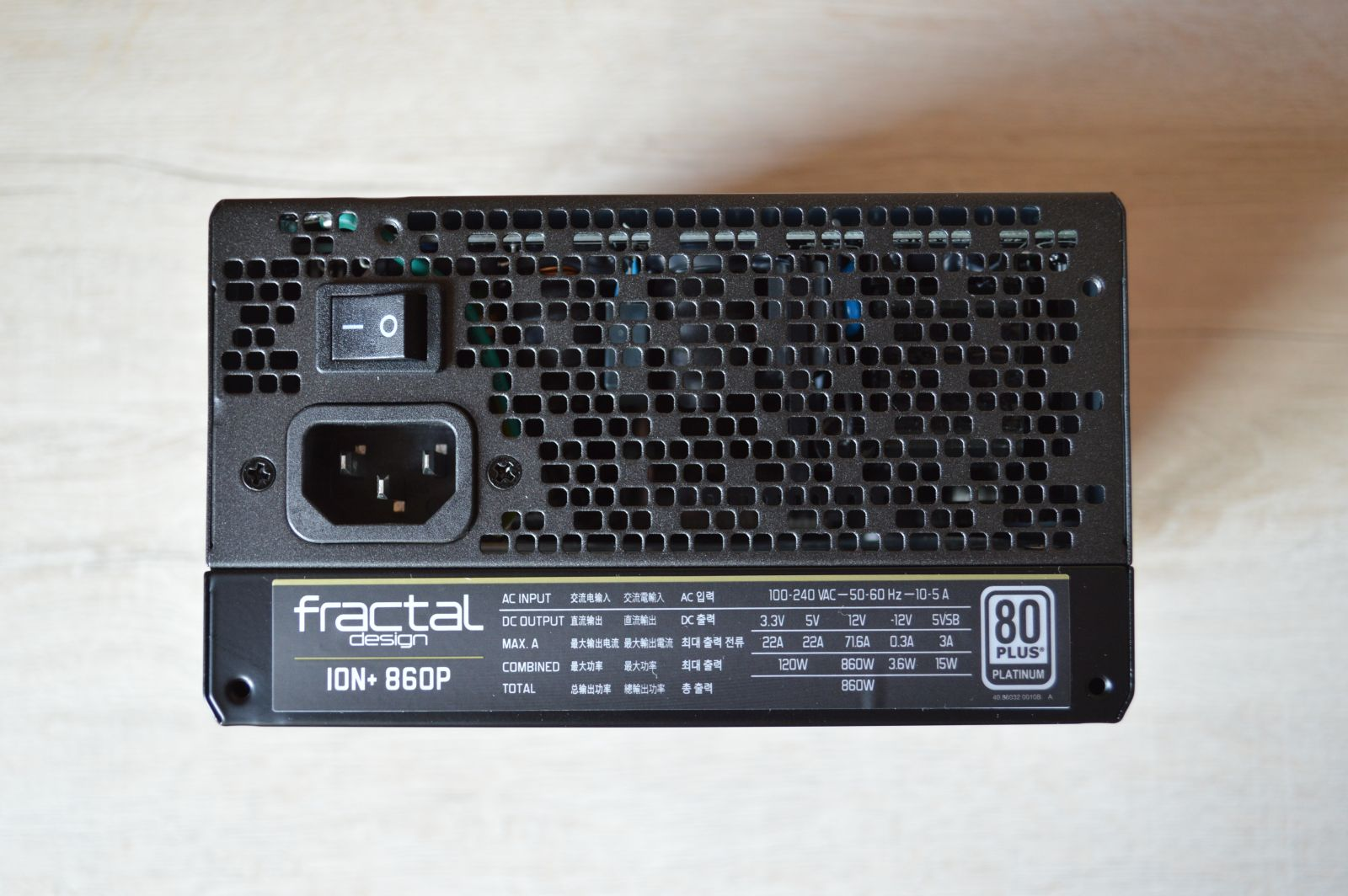 Fractal Design Ion+ Platinum 860 Вт решетка