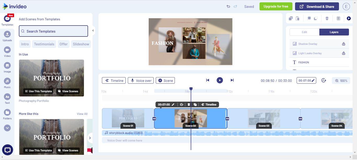 InVideo: онлайн-видеоредактор для создания фильмов, роликов и рекламы для Youtube