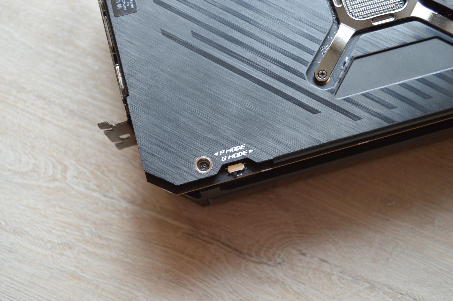 ROG Strix Radeon RX 6800 кнопка переключения режимов