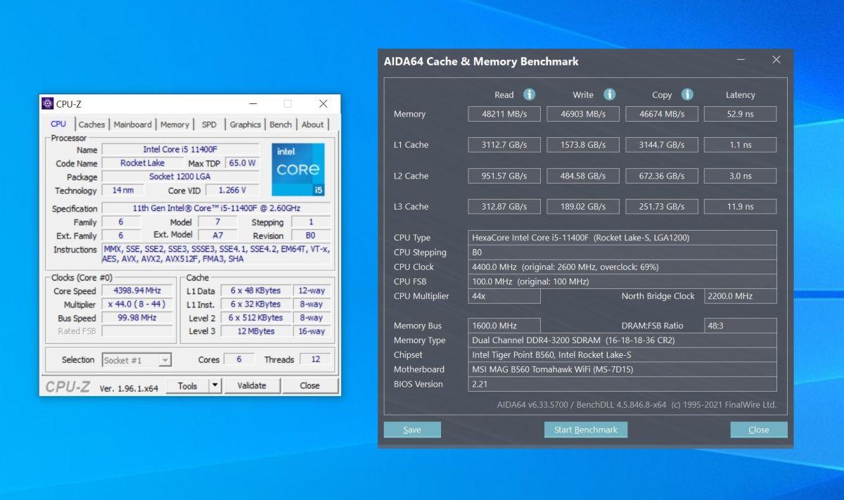 11400f и память ddr4-3200