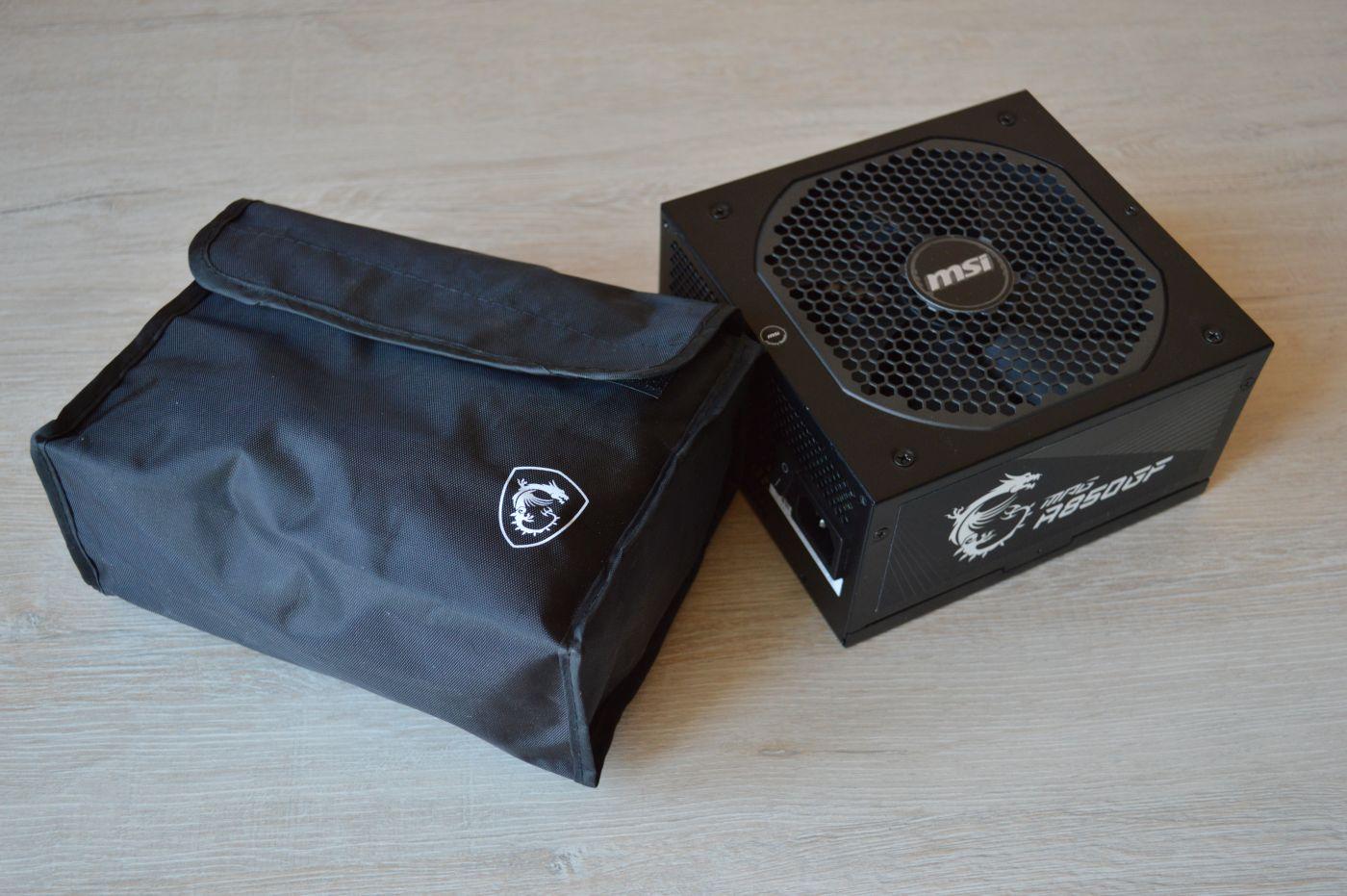 MSI MPG A850GF из коробки