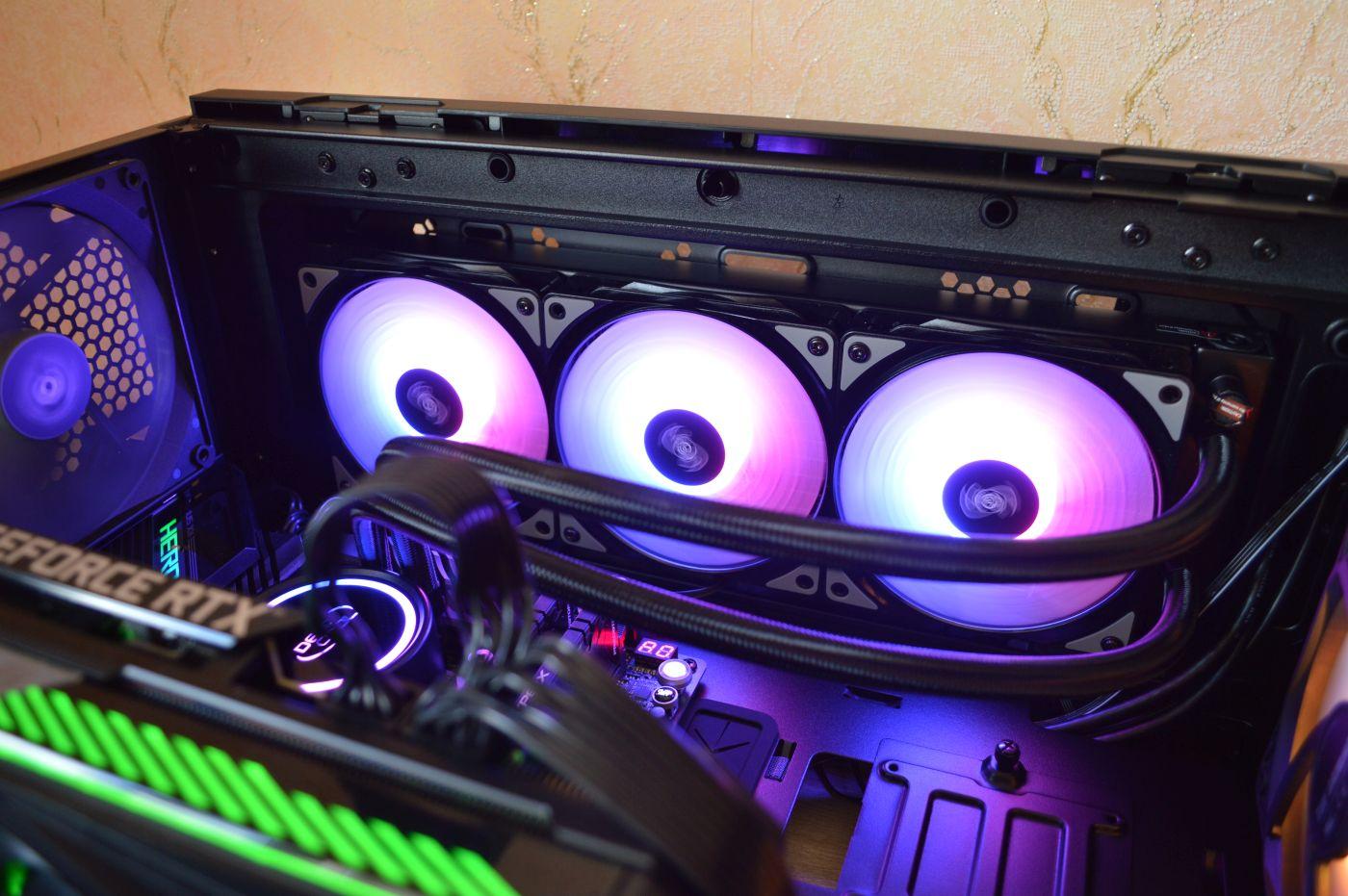 Deepcool Gammaxx L360 A-RGB фиолетовая подсветка