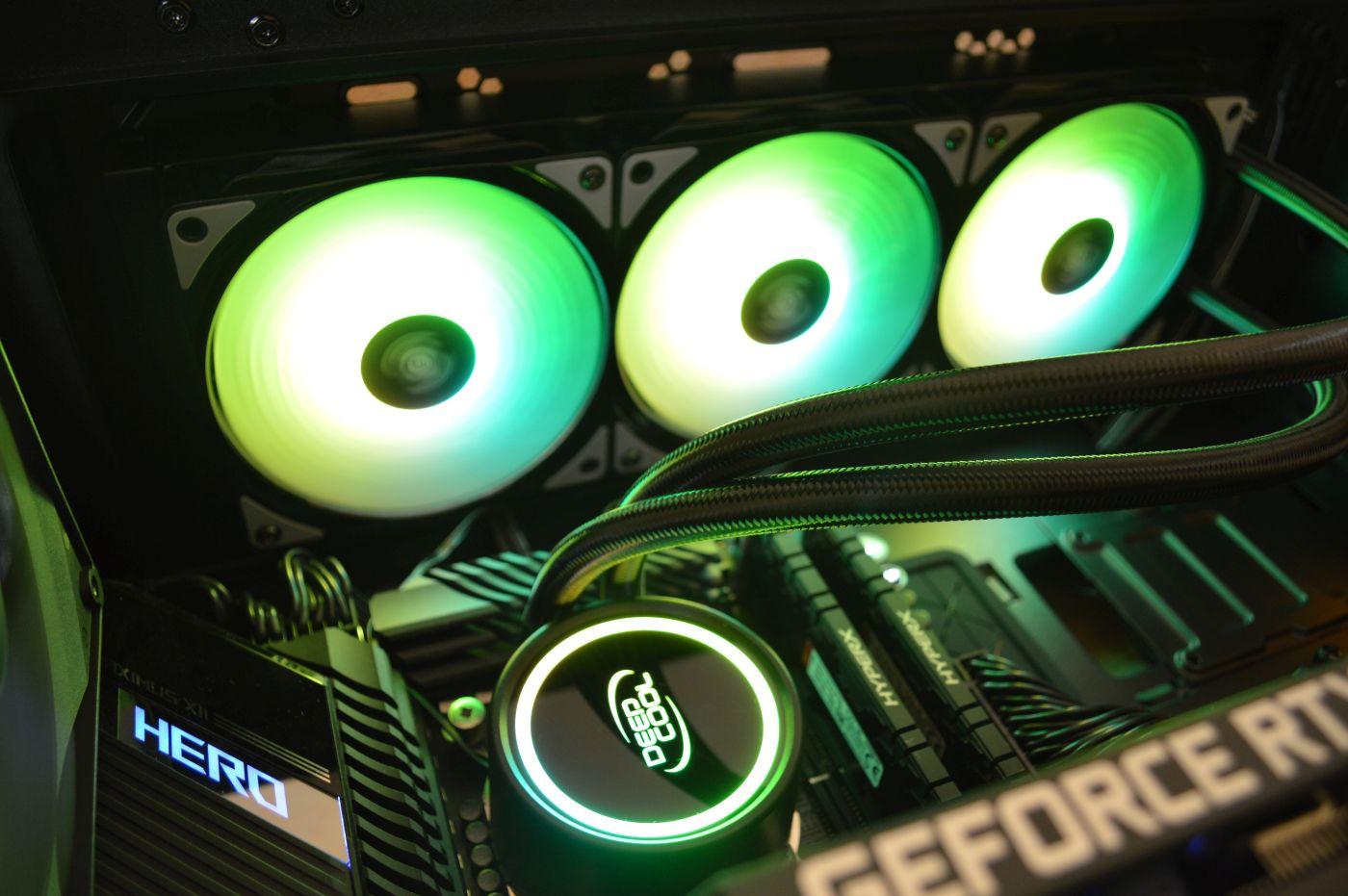 Deepcool Gammaxx L360 A-RGB в корпусе