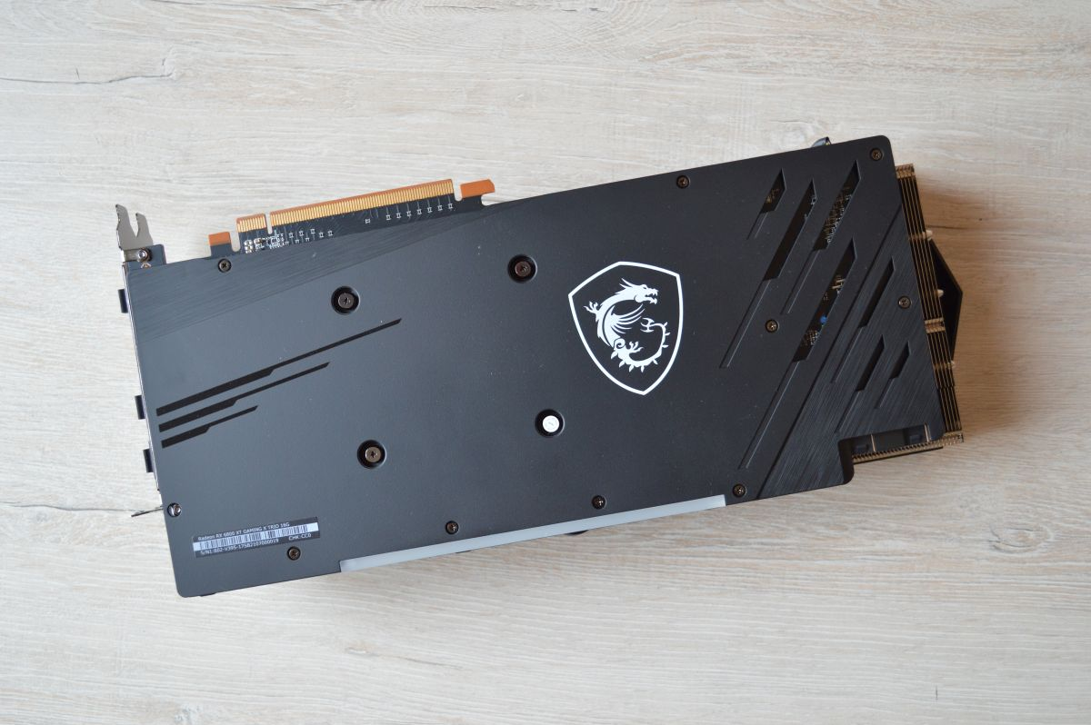 MSI Radeon RX 6800 XT Gaming X Trio бэкплейт