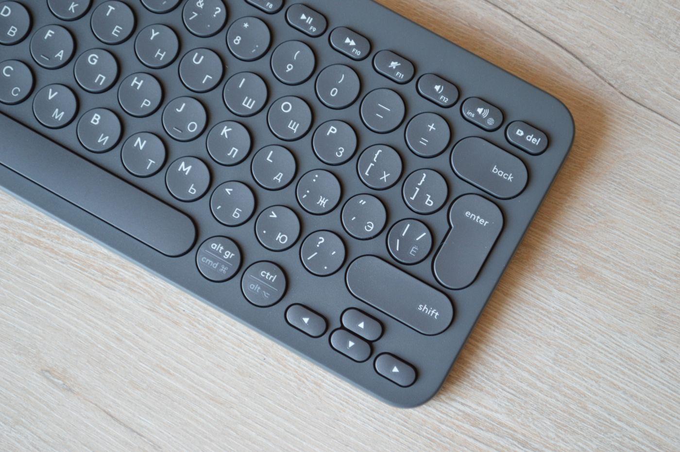 кнопки Logitech K380 Slim Multi-Device