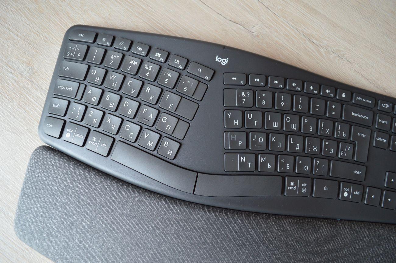Обзор беспроводной клавиатуры Logitech Ergo K860